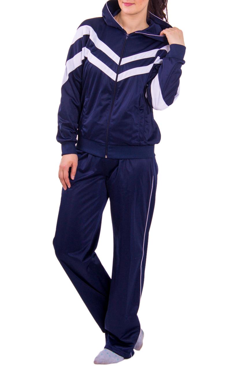 Спортивный костюмСпортивные костюмы<br>Женский спортивный костюм из эластичной ткани.  Рост девушки-фотомодели 180 см<br><br>По длине: Макси<br>По материалу: Синтетические волокна<br>По рисунку: Цветные<br>По сезону: Весна,Зима,Осень<br>По силуэту: Полуприталенные<br>По стилю: Спортивный стиль<br>По форме: Брюки,Костюм двойка<br>По элементам: С капюшоном,С карманами,С манжетами<br>Застежка: С молнией<br>Рукав: Длинный рукав<br>По образу: Спорт<br>Размер : 46<br>Материал: Полиэстер<br>Количество в наличии: 1