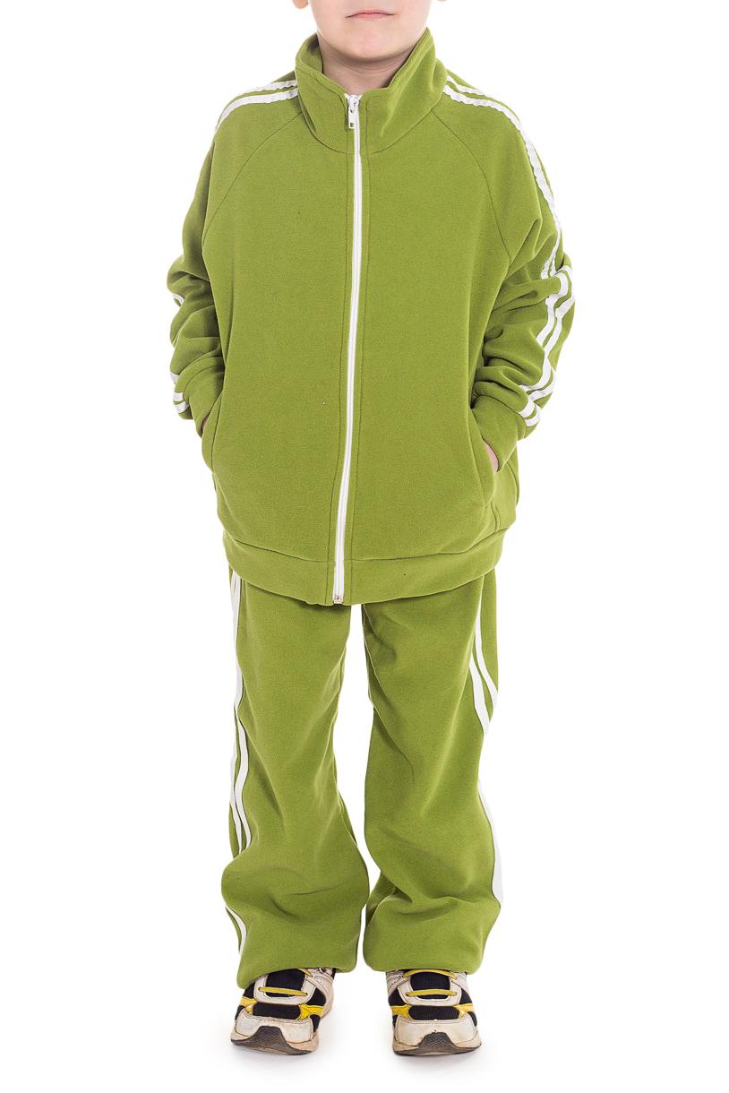 """Спортивный костюмКостюмы<br>Костюм на молнии, без капюшона, воротник стойка.  Ткань из синтетических волокон. Обладает хорошей воздухопроницаемостью исключительными тепловыми качествами при относительно небольшом весе. Изделия из таких тканей защищают от холода и непогоды. Велюровая поверхность ткани создает воздушные карманы, которые удерживают воздух и сохраняют тепло.Ткань гарантирует не закатывание ворса после многократных стирок. Технические характеристики: - максимальное тепло при небольшом весе - хорошо """"дышит"""", не препятствует испарению влаги, быстро сохнет.  Цвет: зеленый  Размер 74 соответствует росту 70-73 см Размер 80 соответствует росту 74-80 см Размер 86 соответствует росту 81-86 см Размер 92 соответствует росту 87-92 см Размер 98 соответствует росту 93-98 см Размер 104 соответствует росту 98-104 см Размер 110 соответствует росту 105-110 см Размер 116 соответствует росту 111-116 см Размер 122 соответствует росту 117-122 см Размер 128 соответствует росту 123-128 см Размер 134 соответствует росту 129-134 см Размер 140 соответствует росту 135-140 см Размер 146 соответствует росту 141-146 см<br><br>Воротник: Стойка<br>По возрасту: Дошкольные ( от 3 до 7 лет),Школьные ( от 7 до 13 лет)<br>По длине: Макси<br>По материалу: Трикотажные<br>По образу: Повседневные,Спорт<br>По рисунку: Однотонные<br>По силуэту: Полуприталенные<br>По стилю: Спортивные,Повседневные<br>По форме: Брючные,Костюм двойка<br>По элементам: С карманами<br>Рукав: Длинный рукав<br>По сезону: Осень,Весна<br>Размер : 116,128,140<br>Материал: Трикотаж<br>Количество в наличии: 3"""