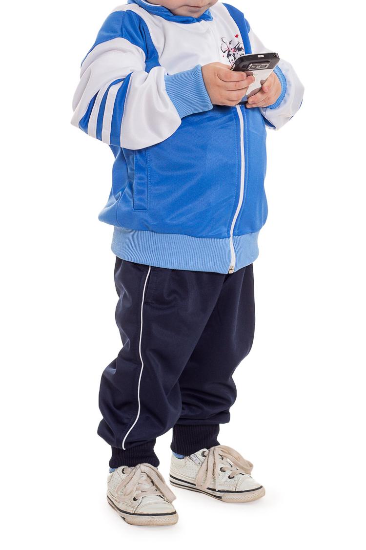 Спортивный костюмКостюмы<br>Спортивный костюм для мальчика  Цвет: синий, голубой, белый  Размер 74 соответствует росту 70-73 см Размер 80 соответствует росту 74-80 см Размер 86 соответствует росту 81-86 см Размер 92 соответствует росту 87-92 см Размер 98 соответствует росту 93-98 см Размер 104 соответствует росту 98-104 см Размер 110 соответствует росту 105-110 см Размер 116 соответствует росту 111-116 см Размер 122 соответствует росту 117-122 см Размер 128 соответствует росту 123-128 см Размер 134 соответствует росту 129-134 см Размер 140 соответствует росту 135-140 см Размер 146 соответствует росту 141-146 см Размер 152 соответствует росту 147-152 см Размер 158 соответствует росту 153-158 см Размер 164 соответствует росту 159-164 см<br><br>Воротник: Стояче-отложной<br>По материалу: Трикотажные<br>По образу: Спорт<br>По рисунку: С принтом (печатью),Цветные<br>По стилю: Спортивные<br>По форме: Костюм двойка<br>По элементам: С карманами,С молнией<br>Рукав: Длинный рукав<br>По сезону: Осень,Весна<br>По возрасту: Ясельные ( от 1 до 3 лет)<br>Размер : 74,80<br>Материал: Полиэстер<br>Количество в наличии: 8