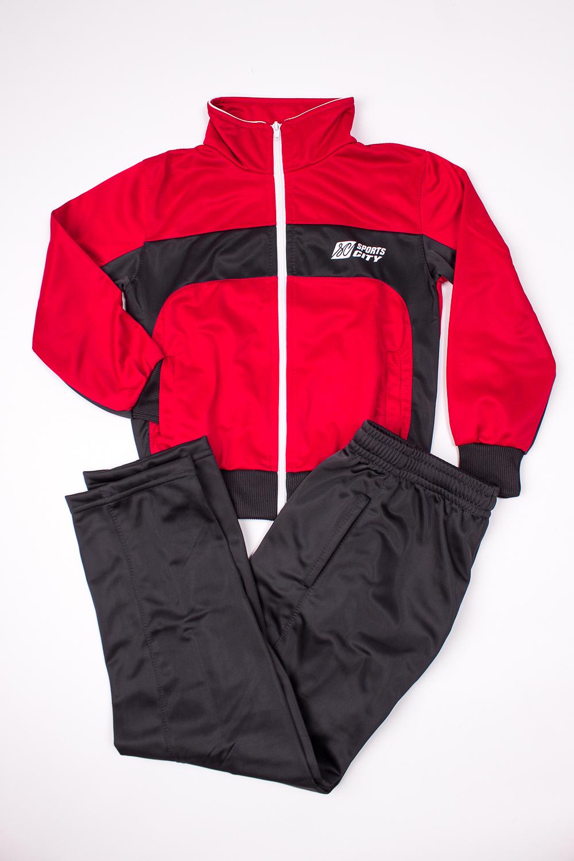 Спортивный костюмСпортивная одежда<br>Спортивный костюм из эластичного трикотажа. Отличный выбор для занятий спортом или активного отдыха.В изделии использованы цвета: красный, темно-серыйРазмер 74 соответствует росту 70-73 смРазмер 80 соответствует росту 74-80 смРазмер 86 соответствует росту 81-86 смРазмер 92 соответствует росту 87-92 смРазмер 98 соответствует росту 93-98 смРазмер 104 соответствует росту 98-104 смРазмер 110 соответствует росту 105-110 смРазмер 116 соответствует росту 111-116 смРазмер 122 соответствует росту 117-122 смРазмер 128 соответствует росту 123-128 смРазмер 134 соответствует росту 129-134 смРазмер 140 соответствует росту 135-140 смРазмер 146 соответствует росту 141-146 смРазмер 152 соответствует росту 147-152 смРазмер 158 соответствует росту 153-158 смРазмер 164 соответствует росту 159-164 см<br><br>Сезон: Всесезон<br>Размер : 134,152<br>Материал: Полиэстер<br>Количество в наличии: 2