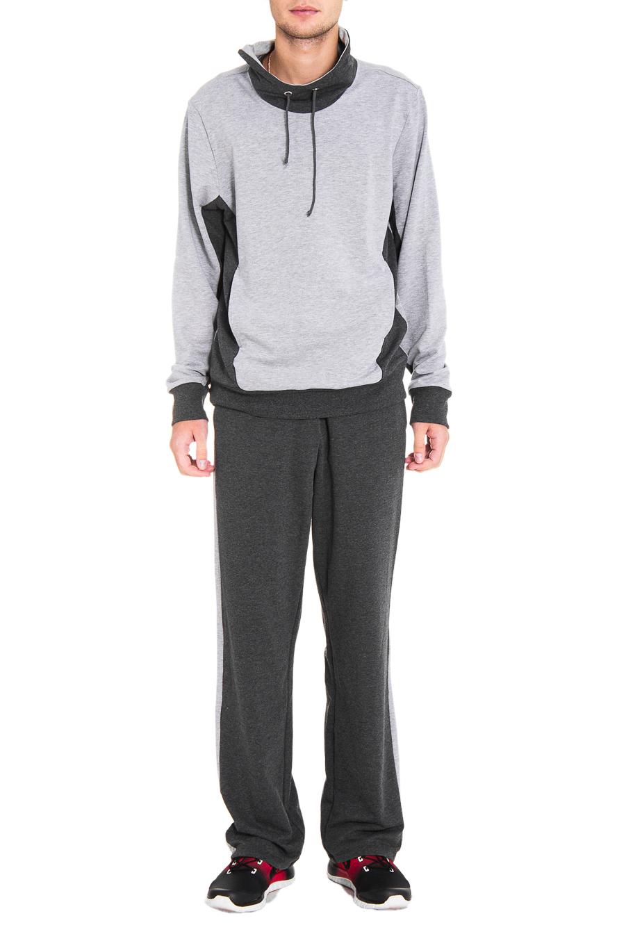 Спортивный костюмСпортивная одежда<br>Мужской спортивный костюм из эластичного трикотажа. Отличный выбор для активного отдыха.  Цвет: серый  Рост мужчины-фотомодели 182 см<br><br>По сезону: Осень,Весна<br>Размер: 50,52,48,46<br>Материал: 94% хлопок 6% эластан<br>Количество в наличии: 3