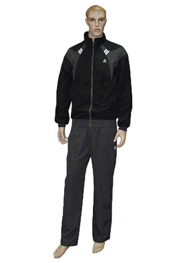 Спортивный костюмСпортивная одежда<br>Мужской спортивный костюм из эластичного трикотажа. Отличный выбор для активного отдыха.  Цвет: черный, серый<br><br>По сезону: Осень,Весна<br>Размер : 46,50<br>Материал: Полиэстер<br>Количество в наличии: 3