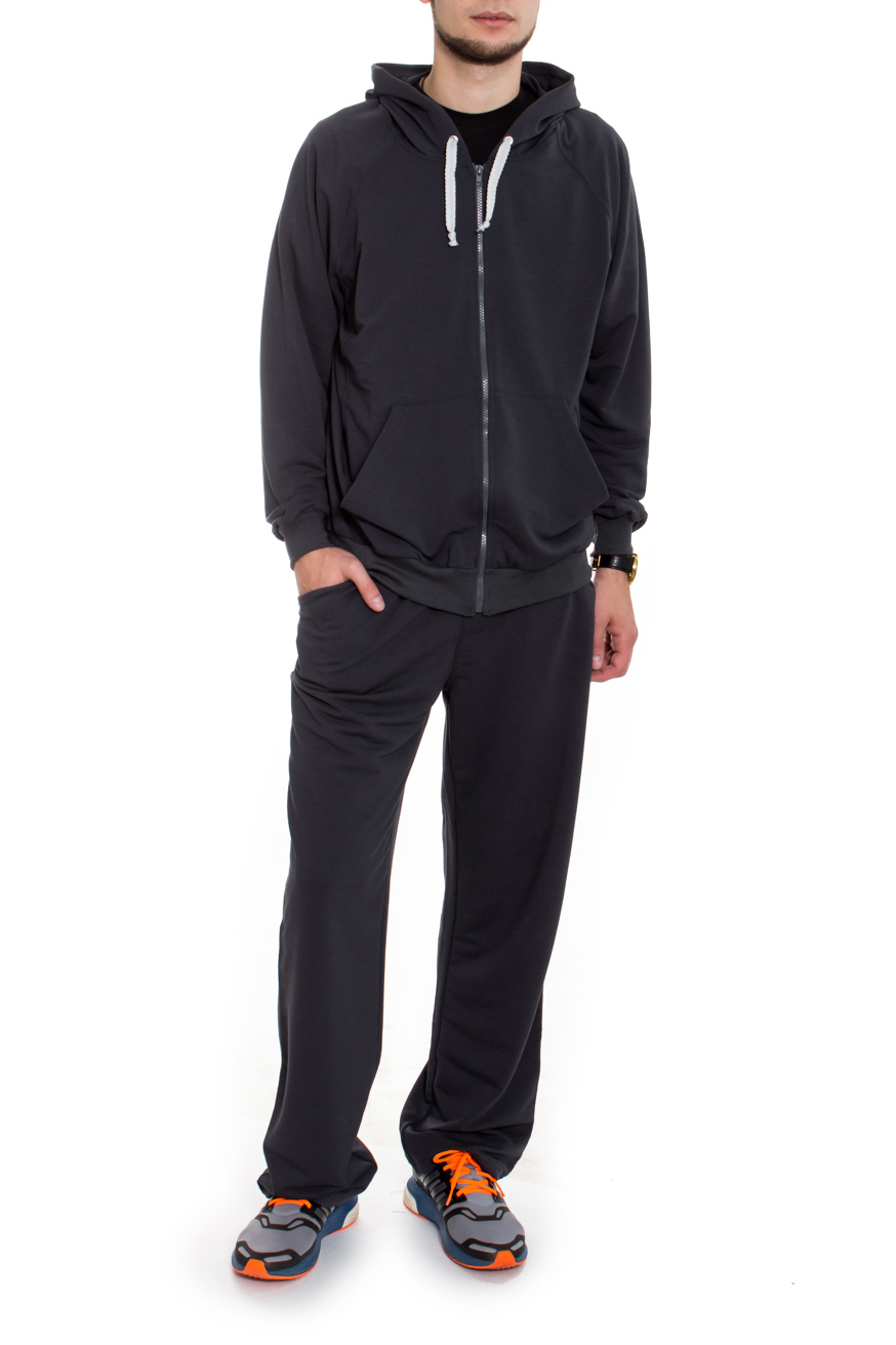 КостюмСпортивная одежда<br>Брюки и толстовка из мягкой ткани с ворсованной изнанкой (начес). Толстовка на молнии, карман кенгуру, рукав реглан, усилена спина, капюшон с завязкой-шнурком. На брюках широкий пояс на резинке, отстроченный, боковые карманы. Костюм мужской это удобство, многофункциональность и практичность.  Цвет: серый  Рост мужчины-фотомодели 182 см<br><br>По сезону: Осень,Весна<br>Размер : 50,52<br>Материал: Трикотаж<br>Количество в наличии: 3