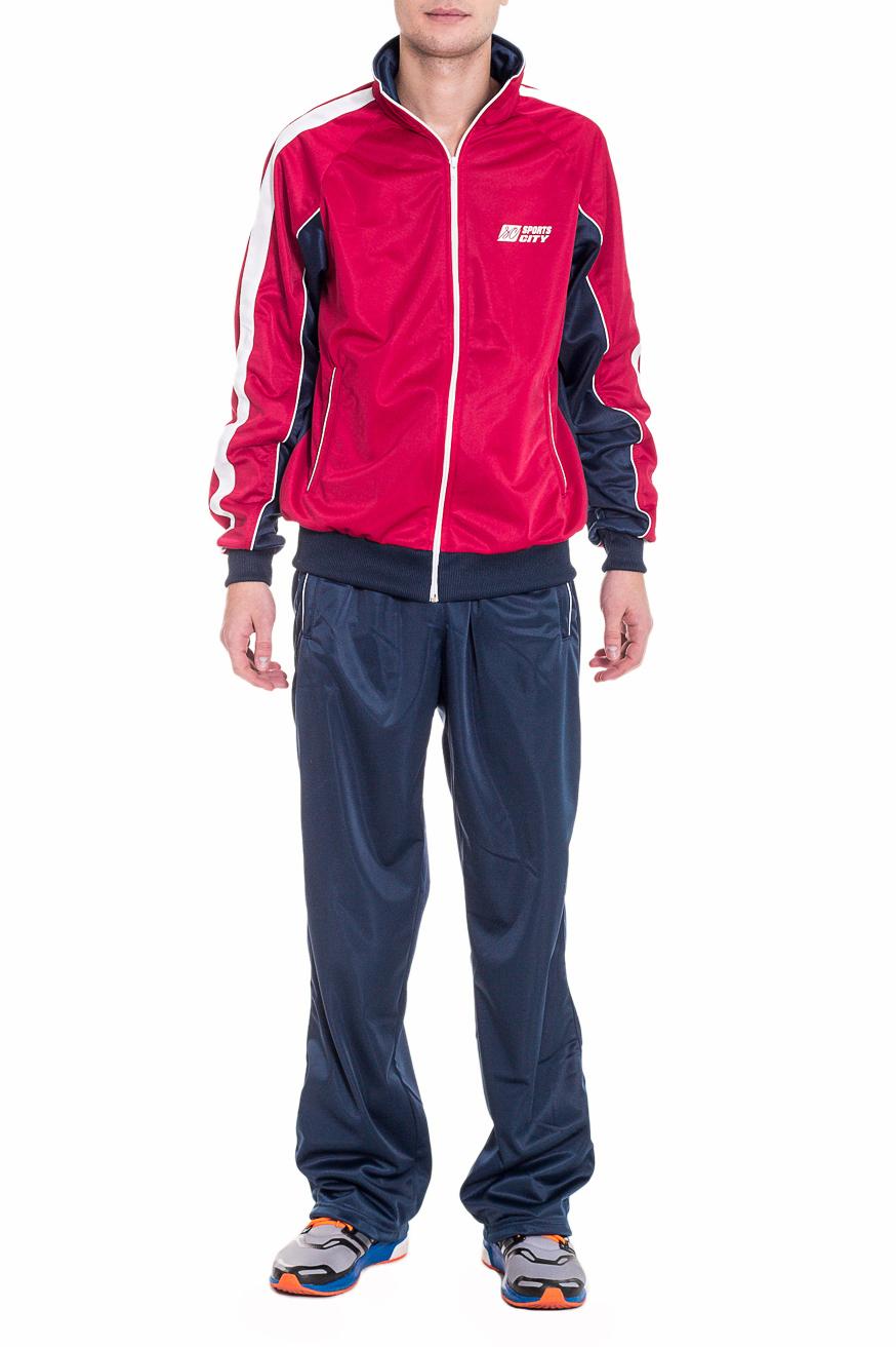 Спортивный костюмСпортивная одежда<br>Мужской спортивный костюм из эластичного трикотажа. Отличный выбор для активного отдыха.  Цвет: синий, розовый  Рост мужчины-фотомодели 182 см<br><br>По сезону: Осень,Весна<br>Размер : 52<br>Материал: Полиэстер<br>Количество в наличии: 1