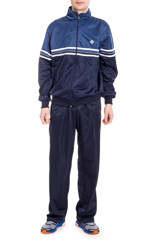 Спортивный костюмСпортивная одежда<br>Мужской спортивный костюм из эластичного трикотажа. Отличный выбор для активного отдыха.  Цвет: синий.  Рост мужчины-фотомодели 182 см<br><br>По сезону: Осень,Весна<br>Размер : 48,50,52,54,56<br>Материал: Полиэстер<br>Количество в наличии: 15