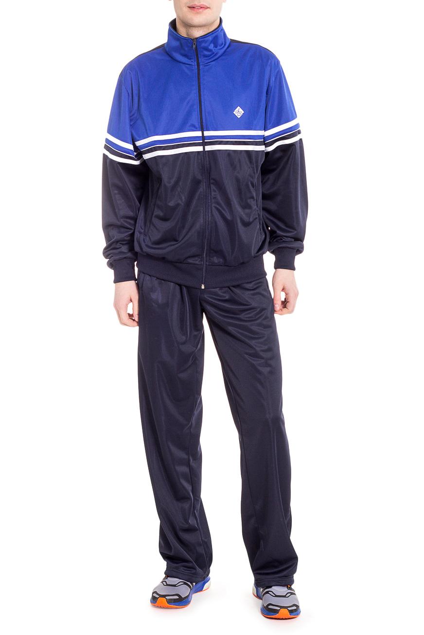Спортивный костюмСпортивная одежда<br>Мужской спортивный костюм из эластичного трикотажа. Отличный выбор для активного отдыха.  Цвет: синий.  Рост мужчины-фотомодели 182 см<br><br>По сезону: Осень,Весна<br>Размер : 48,50,56<br>Материал: Полиэстер<br>Количество в наличии: 4