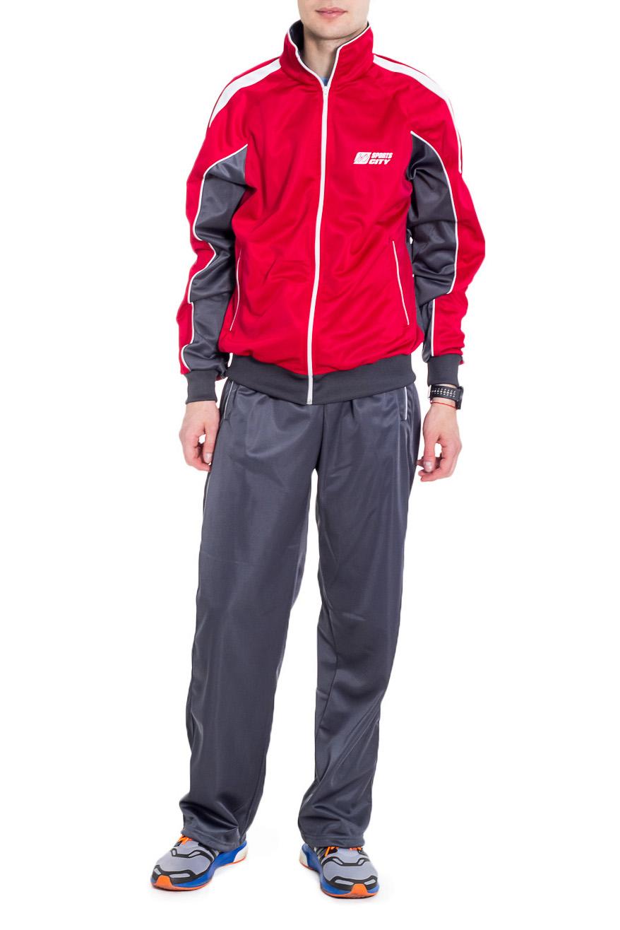 Спортивный костюмСпортивная одежда<br>Мужской спортивный костюм из эластичной ткани. Отличный выбор для активного отдыха.  Цвет: серый, красный  Рост мужчины-фотомодели 182 см<br><br>По сезону: Всесезон<br>Размер : 48<br>Материал: Полиэстер<br>Количество в наличии: 1