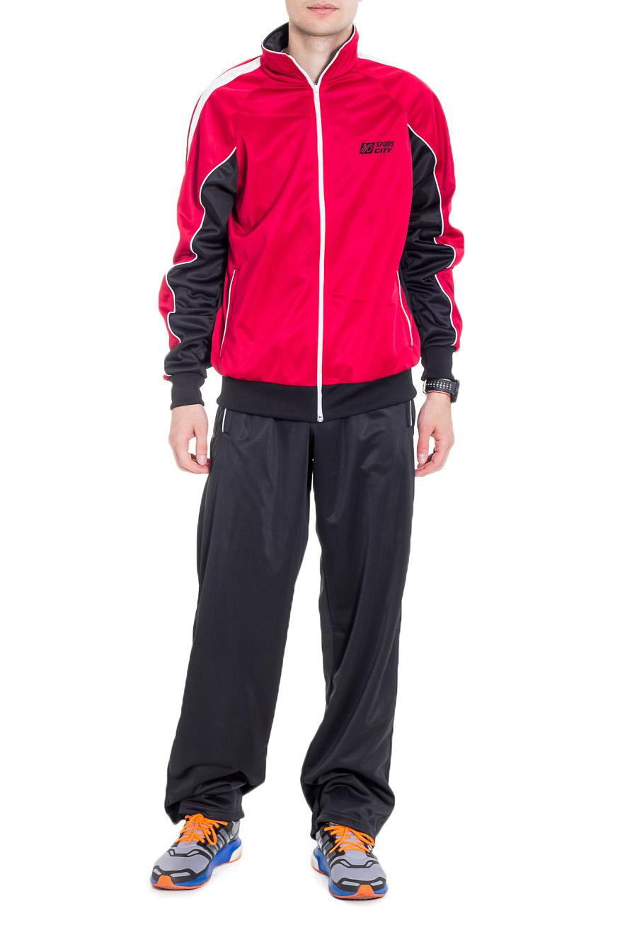 Спортивный костюмСпортивная одежда<br>Мужской спортивный костюм из эластичной ткани. Отличный выбор для активного отдыха.  Цвет: черный, красный  Рост мужчины-фотомодели 182 см<br><br>По сезону: Всесезон<br>Размер : 48<br>Материал: Полиэстер<br>Количество в наличии: 1