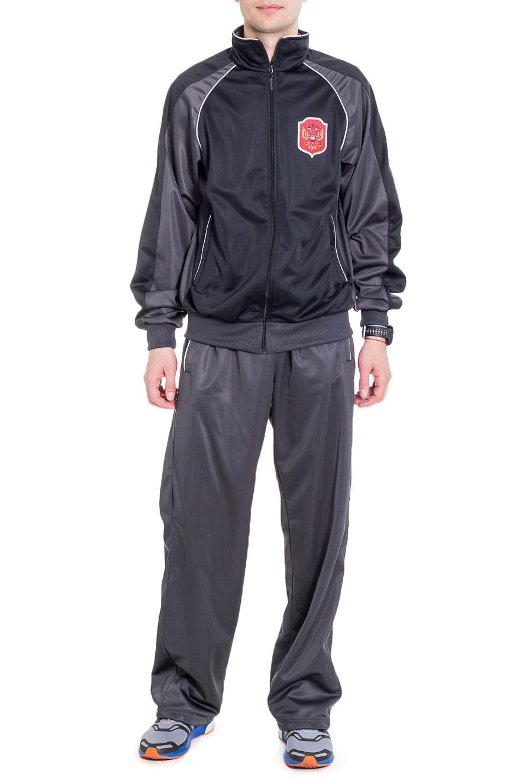 Спортивный костюмСпортивная одежда<br>Мужской спортивный костюм из эластичной ткани. Отличный выбор для активного отдыха.  Цвет: серый  Рост мужчины-фотомодели 182 см<br><br>По сезону: Всесезон<br>Размер : 48,52,54<br>Материал: Полиэстер<br>Количество в наличии: 3