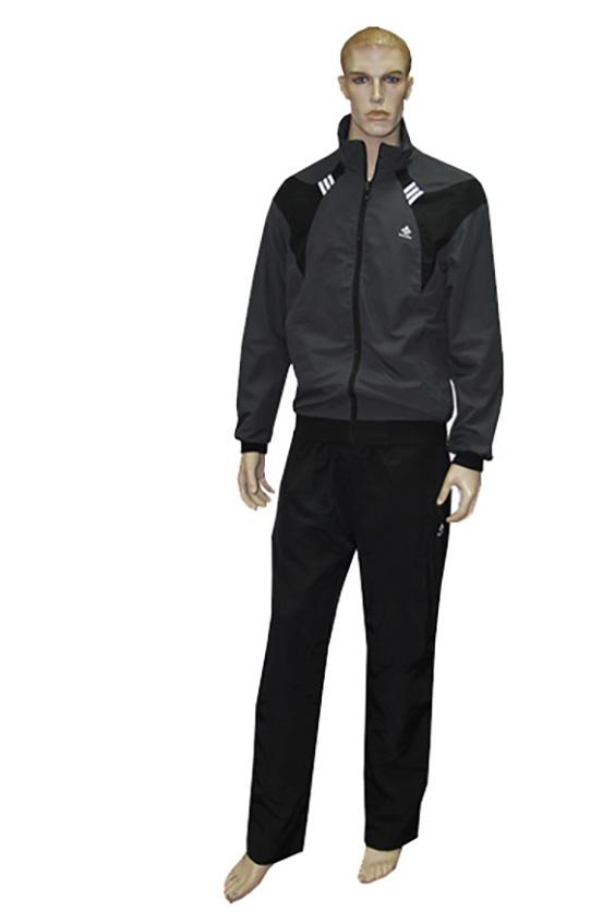 Спортивный костюмСпортивная одежда<br>Мужской спортивный костюм из эластичного трикотажа. Отличный выбор для активного отдыха.  Цвет: черный, серый<br><br>По сезону: Осень,Весна<br>Размер : 46<br>Материал: Полиэстер<br>Количество в наличии: 1
