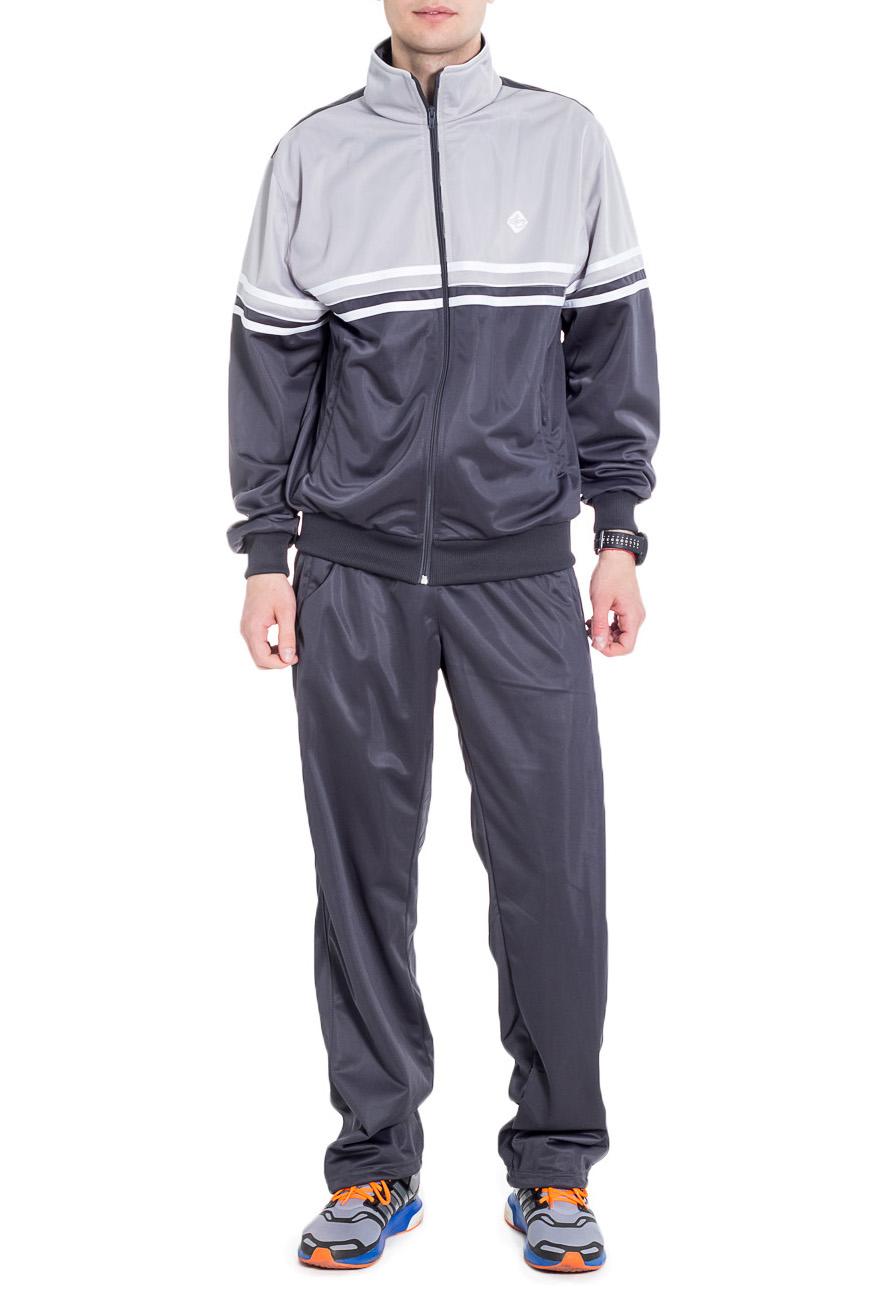 Спортивный костюмСпортивная одежда<br>Мужской спортивный костюм из эластичной ткани. Отличный выбор для активного отдыха.  Цвет: серый  Рост мужчины-фотомодели 182 см<br><br>По сезону: Всесезон<br>Размер : 48,52<br>Материал: Полиэстер<br>Количество в наличии: 2