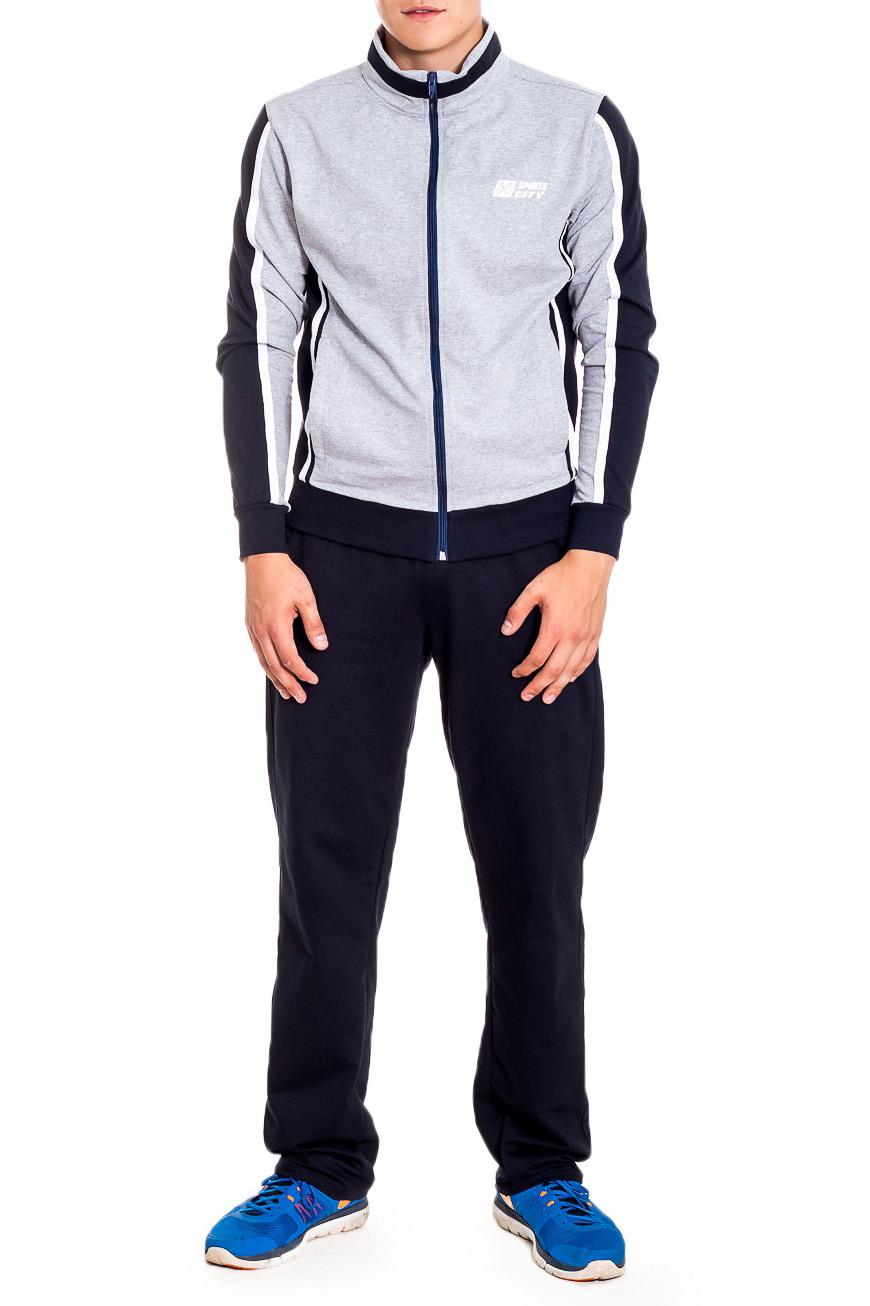 Спортивный костюмКостюмы<br>Мужской спортивный костюм из трикотажа. Отличный выбор для активного отдыха.  В изделии использованы цвета: синий, серый  Рост мужчины-фотомодели 178 см<br><br>По сезону: Осень,Весна<br>Размер : 46,54<br>Материал: Трикотаж<br>Количество в наличии: 2
