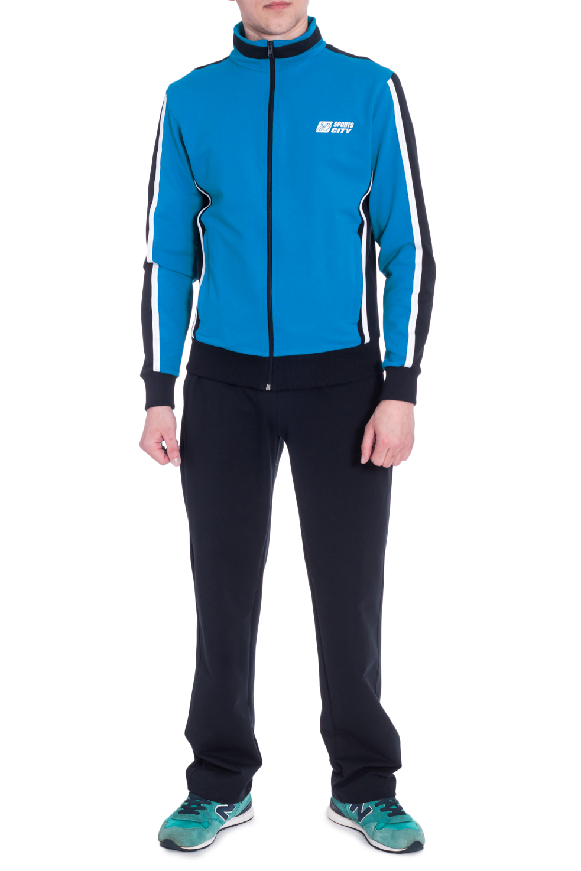 Спортивный костюмСпортивная одежда<br>Мужской спортивный костюм из эластичной ткани. Отличный выбор для занятий спортом или активного отдыха.  В изделии использованы цвета: темно-синий, васильковый, белый  Рост мужчины-фотомодели 178 см<br><br>По сезону: Всесезон<br>Размер : 46,48,50,52,54,56<br>Материал: Трикотаж<br>Количество в наличии: 6