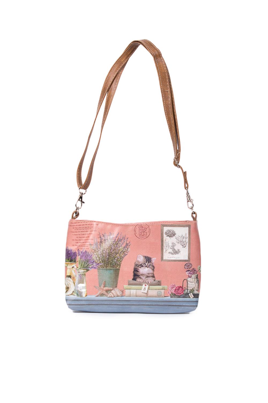 СумкаСумки и кошельки<br>Красивая сумка для девочки  В изделии использованы цвета: коралловый, бежевый и др.  Размеры: Длина 26 см Ширина 5 см Высота 15 см<br><br>Размер : UNI<br>Материал: Искусственная кожа<br>Количество в наличии: 1