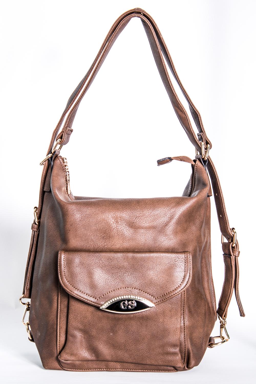 Сумка-шоппингСумки-шоппинг<br>Удобная и вместительная женская сумка. Можно носить как рюкзак.  Размеры: 35*33*7 см  Цвет: бежевый<br><br>По материалу: Искусственная кожа<br>По размеру: Средние<br>По рисунку: Однотонные<br>По степени жесткости: Мягкие<br>По типу застежки: С застежкой молнией<br>Ручки: Длинные<br>По форме: Квадратные<br>Размер : UNI<br>Материал: Искусственная кожа<br>Количество в наличии: 1