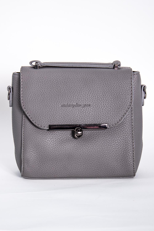 Классическая сумкаКлассические<br>Маленькая женская сумка.  Размеры: 18*18*9 см  Цвет: серый<br><br>По материалу: Искусственная кожа<br>По размеру: Маленькие<br>По рисунку: Однотонные<br>По силуэту стенок: Прямоугольные<br>По способу ношения: В руках,На плечо<br>По степени жесткости: Полужесткие<br>По типу застежки: С застежкой молнией,С клапаном<br>Ручки: Длинные,Короткие<br>Размер : UNI<br>Материал: Искусственная кожа<br>Количество в наличии: 1