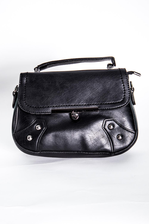 Классическая сумкаКлассические<br>Маленькая женская сумка.  Размеры: 24*16*6 см  Цвет: черный<br><br>По материалу: Искусственная кожа<br>По размеру: Маленькие<br>По рисунку: Однотонные<br>По силуэту стенок: Прямоугольные<br>По способу ношения: В руках,На плечо<br>По степени жесткости: Полужесткие<br>По типу застежки: С застежкой молнией,С клапаном<br>Ручки: Длинные,Короткие<br>Размер : UNI<br>Материал: Искусственная кожа<br>Количество в наличии: 2