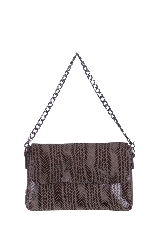 СумкаКлассические<br>Удобная и вместительная женская сумка. Модель выполнена из фактурного материала. Отличный выбор для завершения образа.  Цвет: темно-бежевый  Размеры: 27*19*9 см.<br><br>По материалу: Искусственная кожа<br>По рисунку: Однотонные,Рептилия,Фактурный рисунок<br>По силуэту стенок: Прямоугольные<br>По способу ношения: В руках,На плечо<br>По степени жесткости: Полужесткие<br>По типу застежки: С клапаном<br>Ручки: Длинные,Регулируемые<br>По сезону: Всесезон<br>Размер : UNI<br>Материал: Искусственная кожа<br>Количество в наличии: 1