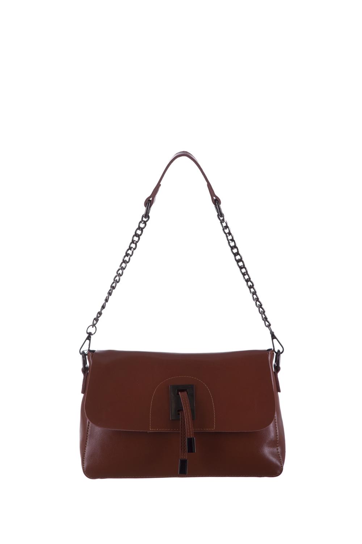 СумкаКлассические<br>Удобная и вместительная женская сумка. Модель выполнена из гладкой кожи. Отличный выбор для завершения образа.  Цвет: красно-коричневый  Размеры: 28*18*10 см.<br><br>По материалу: Искусственная кожа<br>По рисунку: Однотонные<br>По способу ношения: В руках,На плечо<br>По степени жесткости: Полужесткие<br>По типу застежки: С клапаном<br>Ручки: Длинные,Цепочка<br>По сезону: Всесезон<br>По форме: Прямоугольные<br>Размер : UNI<br>Материал: Искусственная кожа<br>Количество в наличии: 1
