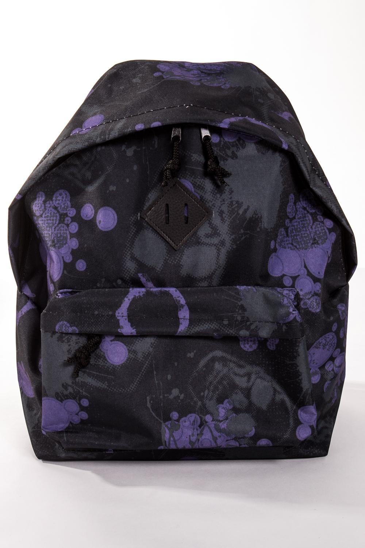 РюкзакРюкзаки<br>Модный рюкзак для активного отдыха или занятий спортом из качественных ярких материалов. Одно основное отделение на двухсторонней молнии. Снаружи передний карман на молнии, удобные лямки и ручка.  Размеры: 31,5*40*13 см  Цвет: черный, сиреневый<br><br>Размер : UNI<br>Материал: Полиэстер<br>Количество в наличии: 5