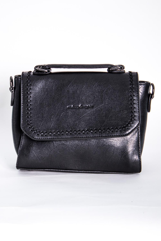 Классическая сумкаКлассические<br>Маленькая женская сумка.  Размеры: 22*17*7 см  Цвет: черный<br><br>По материалу: Искусственная кожа<br>По размеру: Маленькие<br>По рисунку: Однотонные<br>По силуэту стенок: Прямоугольные<br>По способу ношения: В руках,На плечо<br>По степени жесткости: Полужесткие<br>По типу застежки: С застежкой молнией,С клапаном<br>Ручки: Длинные,Короткие<br>Размер : UNI<br>Материал: Искусственная кожа<br>Количество в наличии: 2