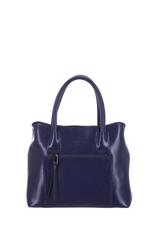 СумкаКлассические<br>Удобная и вместительная женская сумка. Модель выполнена из гладкого материала. Отличный выбор для завершения образа.  Цвет: синий  Размеры: 30*24*10 см<br><br>По материалу: Искусственная кожа<br>По размеру: Средние<br>По рисунку: Однотонные<br>По способу ношения: В руках<br>По степени жесткости: Полужесткие<br>По элементам: Карман на молнии<br>Ручки: Короткие<br>По сезону: Всесезон<br>По форме: Прямоугольные<br>Размер : UNI<br>Материал: Искусственная кожа<br>Количество в наличии: 1