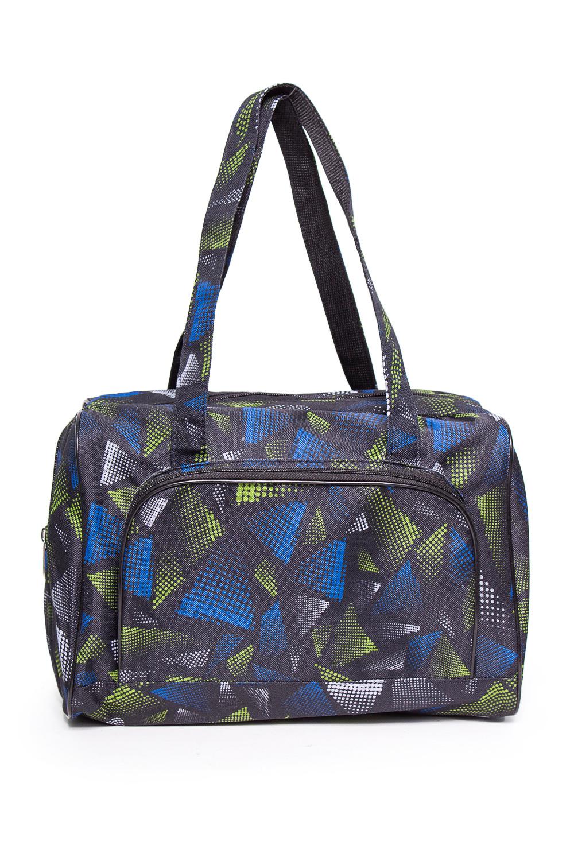 Дорожная сумкаДорожные<br>Удобная и вместительная дорожная сумка.  Размер: 32*25*15 см.  В изделии использованы цвета: серый, синий, салатовый и др.<br><br>По материалу: Тканевые<br>По размеру: Средние<br>По рисунку: Цветные,С принтом<br>По силуэту стенок: Прямоугольные<br>По степени жесткости: Мягкие<br>Ручки: Короткие<br>По сезону: Всесезон<br>Размер : UNI<br>Материал: Полиэстер<br>Количество в наличии: 1