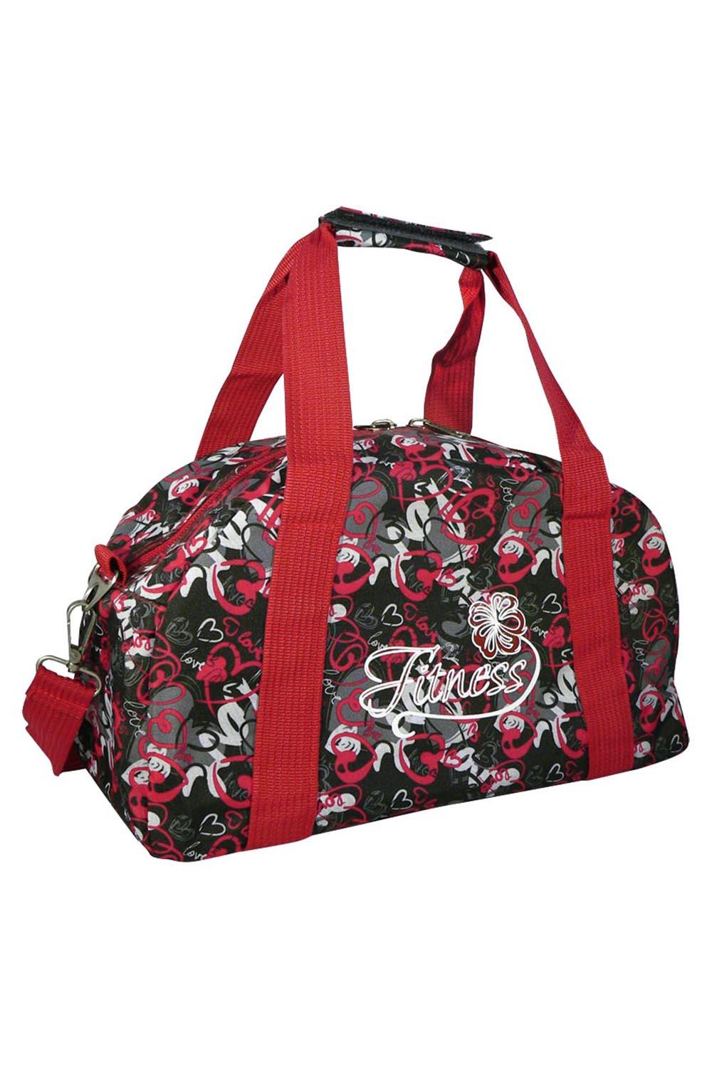 СумкаСпортивные<br>Яркая сумка для активного отдыха или занятий спортом из качественных ярких материалов. Одно основное отделение с застежкой на молнию. Удобные короткие ручки, в комплекте длинный ремень.  Размеры: 39*20*25 см  Цвет: красный, черный, серый<br><br>По материалу: Тканевые<br>По размеру: Средние<br>По рисунку: Цветные,С принтом<br>По способу ношения: В руках,На плечо<br>По степени жесткости: Мягкие<br>По типу застежки: С застежкой молнией<br>Ручки: Длинные,Короткие<br>По стилю: Повседневный стиль,Спортивный стиль<br>По форме: Трапециевидные<br>Размер : UNI<br>Материал: Полиэстер<br>Количество в наличии: 1