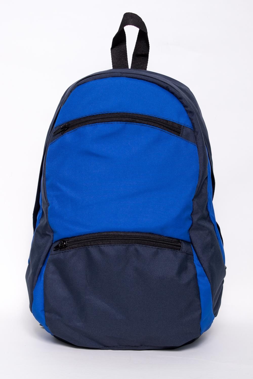 РюкзакРюкзаки<br>Лёгкий компактный городской рюкзак. Благодаря материалу Airmesh, которым обтянута спинка и плечевые лямки, обеспечивается удобство носки рюкзака.  Мягкие регулируемые лямки обтянутые сеточкой. Вентилируемая спинка. Грудная стяжка. Два кармана с застёжкой молния на передней панели. Одно основное отделение на молнии, скрытой ветрозащитной планкой и двумя внутренними карманами.  В изделии использованы цвета: синий, васильковый  Размеры: 42*24*15 см.  Объем 20л.<br><br>Размер : UNI<br>Материал: Полиэстер<br>Количество в наличии: 3
