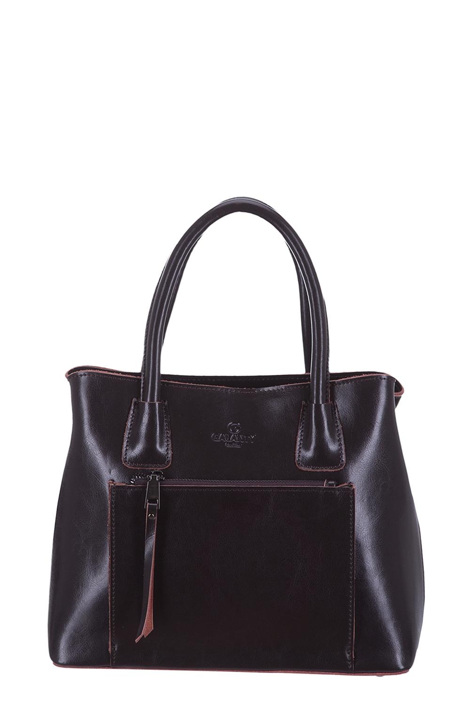 СумкаКлассические<br>Удобная и вместительная женская сумка. Модель выполнена из гладкого материала. Отличный выбор для завершения образа.  Цвет: коричневый  Размеры: 30*24*10 см<br><br>По материалу: Искусственная кожа<br>По размеру: Средние<br>По рисунку: Однотонные<br>По силуэту стенок: Прямоугольные<br>По способу ношения: В руках<br>По степени жесткости: Полужесткие<br>По элементам: Карман на молнии<br>Ручки: Короткие<br>По сезону: Всесезон<br>Размер : UNI<br>Материал: Искусственная кожа<br>Количество в наличии: 1