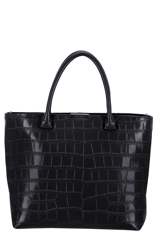 СумкаКлассические<br>Удобная и вместительная женская сумка. Модель выполнена из фактурного материала. Отличный выбор для завершения образа.  Цвет: черный  Размеры: 33*28*11 см<br><br>По материалу: Искусственная кожа<br>По размеру: Средние<br>По рисунку: Однотонные,Фактурный рисунок<br>По силуэту стенок: Прямоугольные<br>По способу ношения: В руках<br>По степени жесткости: Полужесткие<br>По элементам: Карман на молнии<br>Ручки: Короткие<br>По сезону: Всесезон<br>Размер : UNI<br>Материал: Искусственная кожа<br>Количество в наличии: 1