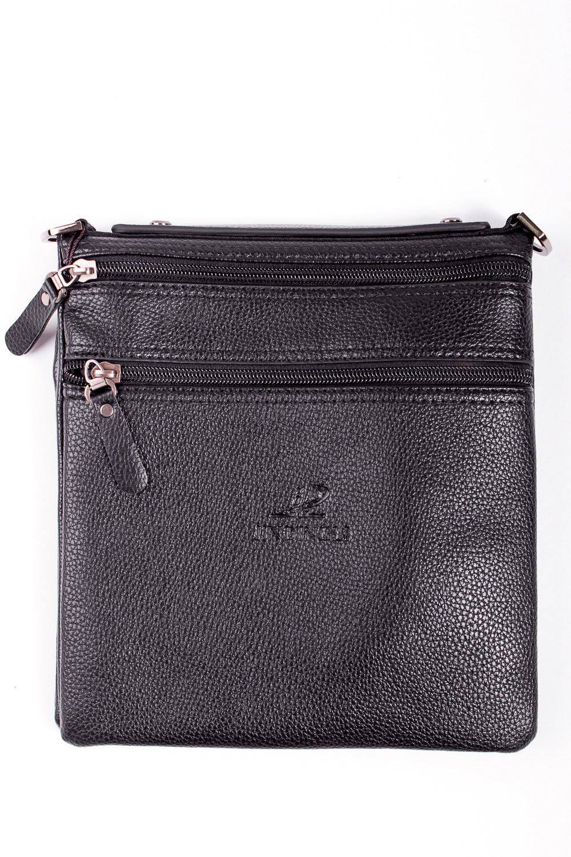 Сумка мужскаяДеловые<br>Удобная и вместительная мужская сумка  Размеры: 21*22*2 см  Цвет: черный<br><br>Размер : UNI<br>Материал: Искусственная кожа<br>Количество в наличии: 2