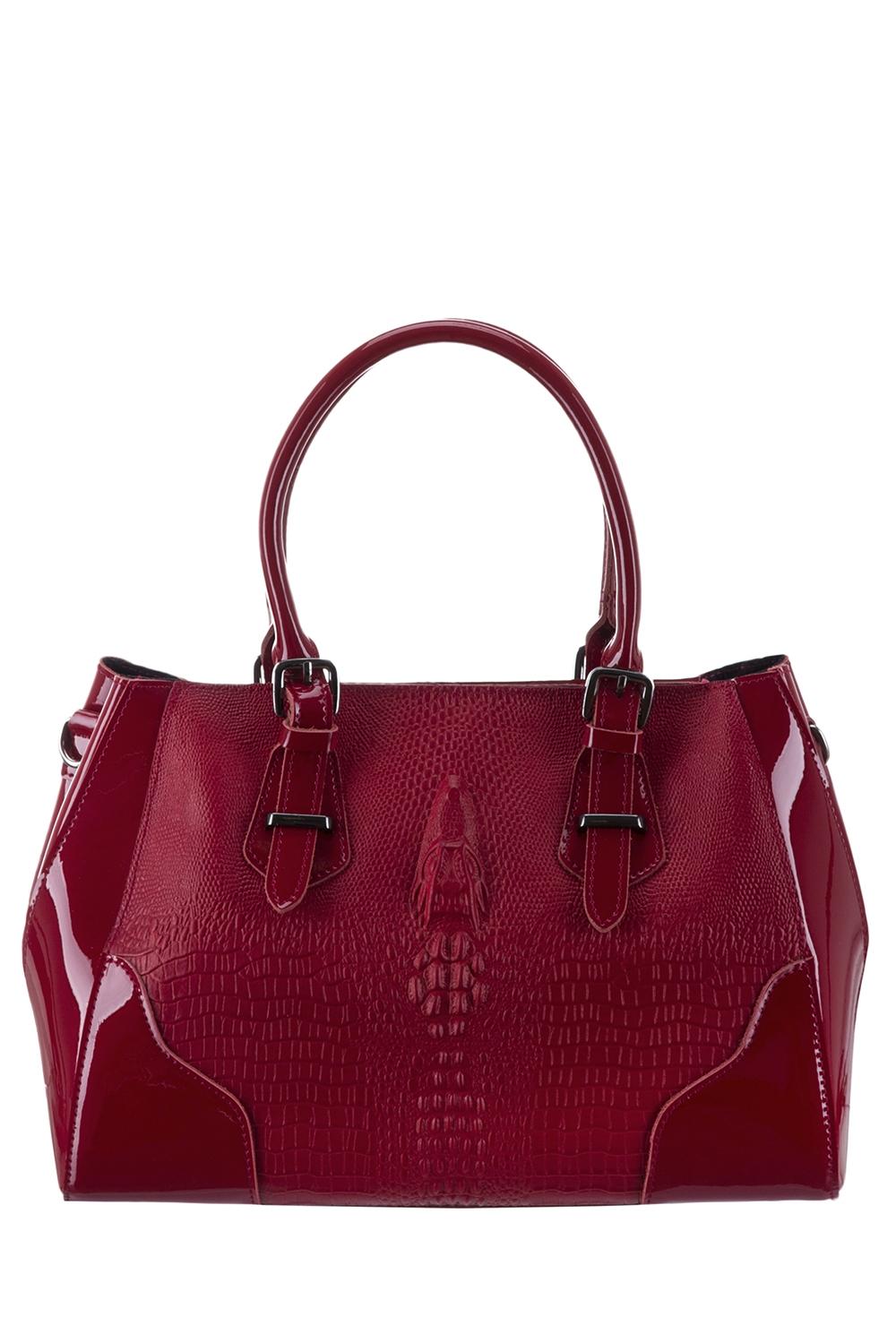 СумкаКлассические<br>Удобная и вместительная женская сумка. Модель выполнена из материалов двух фактур. Отличный выбор для завершения образа.  Цвет: бордовый  Параметры: 32*23*10 см.<br><br>По материалу: Искусственная кожа,Лакированная кожа<br>По размеру: Средние<br>По рисунку: Однотонные,Фактурный рисунок<br>По способу ношения: В руках<br>По степени жесткости: Мягкие<br>По элементам: Карман на молнии,Карман под телефон<br>Ручки: Короткие<br>По сезону: Всесезон<br>По форме: Прямоугольные<br>Размер : UNI<br>Материал: Искусственная кожа<br>Количество в наличии: 1
