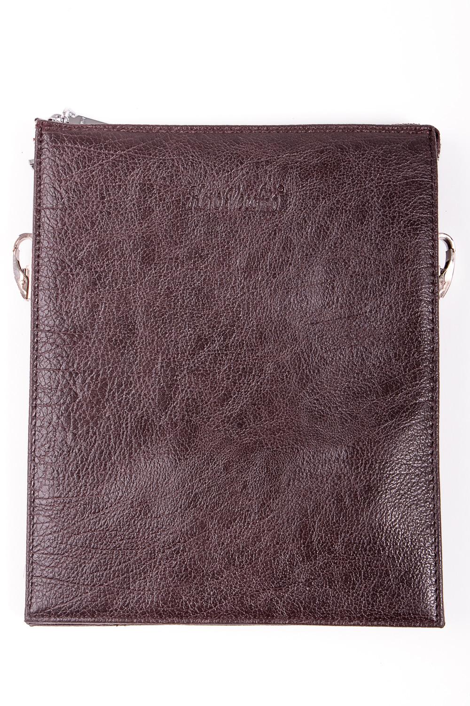 Сумка мужскаяДеловые<br>Удобная и вместительная мужская сумка  Размеры: 19*23*3 см  Цвет: коричневый<br><br>Размер : UNI<br>Материал: Искусственная кожа<br>Количество в наличии: 1