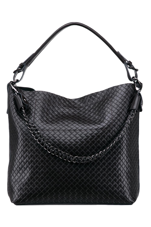 СумкаСумки-шоппинг<br>Удобная и вместительная женская сумка. Модель выполнена из фактурного материала. Отличный выбор для завершения образа.  Цвет: черный  Размеры: 40*33*13 см.<br><br>По материалу: Искусственная кожа<br>По размеру: Средние<br>По силуэту стенок: Прямоугольные<br>По степени жесткости: Мягкие<br>Ручки: Длинные<br>По сезону: Всесезон<br>Отделения: 1 отделение<br>По рисунку: Фактурный рисунок<br>Размер : UNI<br>Материал: Искусственная кожа<br>Количество в наличии: 1