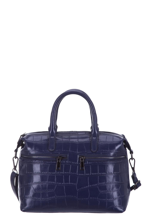 СумкаКлассические<br>Удобная и вместительная женская сумка. Модель выполнена из фактурного материала. Отличный выбор для завершения образа.  Цвет: синий  Размеры: 44*22*12 см.<br><br>По материалу: Искусственная кожа<br>По размеру: Средние<br>По рисунку: Однотонные,Фактурный рисунок<br>По силуэту стенок: Прямоугольные<br>По способу ношения: В руках<br>По степени жесткости: Полужесткие<br>По элементам: Карман на молнии<br>Ручки: Короткие<br>По сезону: Всесезон<br>Размер : UNI<br>Материал: Искусственная кожа<br>Количество в наличии: 1