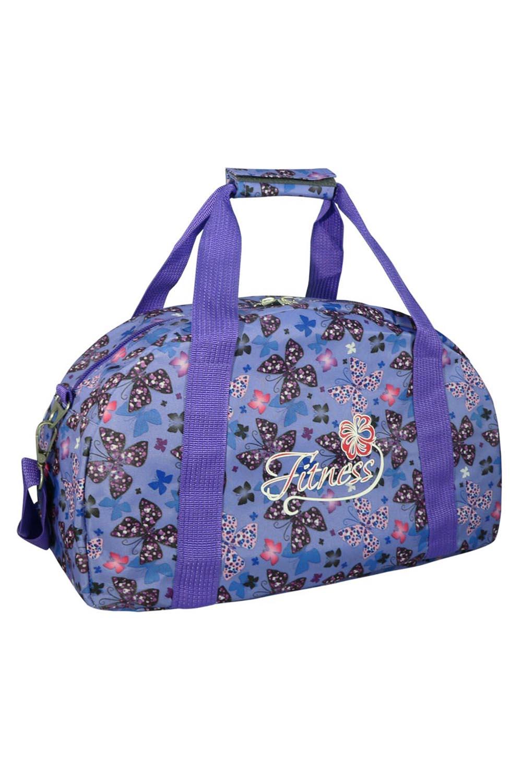 СумкаСпортивные<br>Яркая сумка для активного отдыха или занятий спортом из качественных ярких материалов. Одно основное отделение с застежкой на молнию. Удобные короткие ручки, в комплекте длинный ремень.  Размеры: 39*20*25 см  Цвет: сиреневый и др.<br><br>По материалу: Тканевые<br>По размеру: Средние<br>По рисунку: Бабочки,Цветные,С принтом<br>По силуэту стенок: Трапециевидные<br>По способу ношения: В руках,На плечо<br>По степени жесткости: Мягкие<br>По типу застежки: С застежкой молнией<br>Ручки: Длинные,Короткие<br>Размер : UNI<br>Материал: Полиэстер<br>Количество в наличии: 1