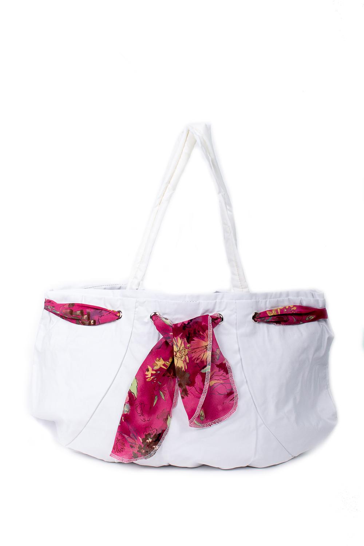 СумкаСумки-шоппинг<br>Удобная и вместительная женская сумка.  Размеры: 30*47 см.  Цвет: белый<br><br>По материалу: Тканевые<br>По размеру: Средние<br>По рисунку: Однотонные<br>По силуэту стенок: Прямоугольные<br>По способу ношения: В руках,На плечо<br>По степени жесткости: Мягкие<br>Ручки: Длинные<br>По сезону: Всесезон<br>Размер : UNI<br>Материал: Полиэстер<br>Количество в наличии: 5