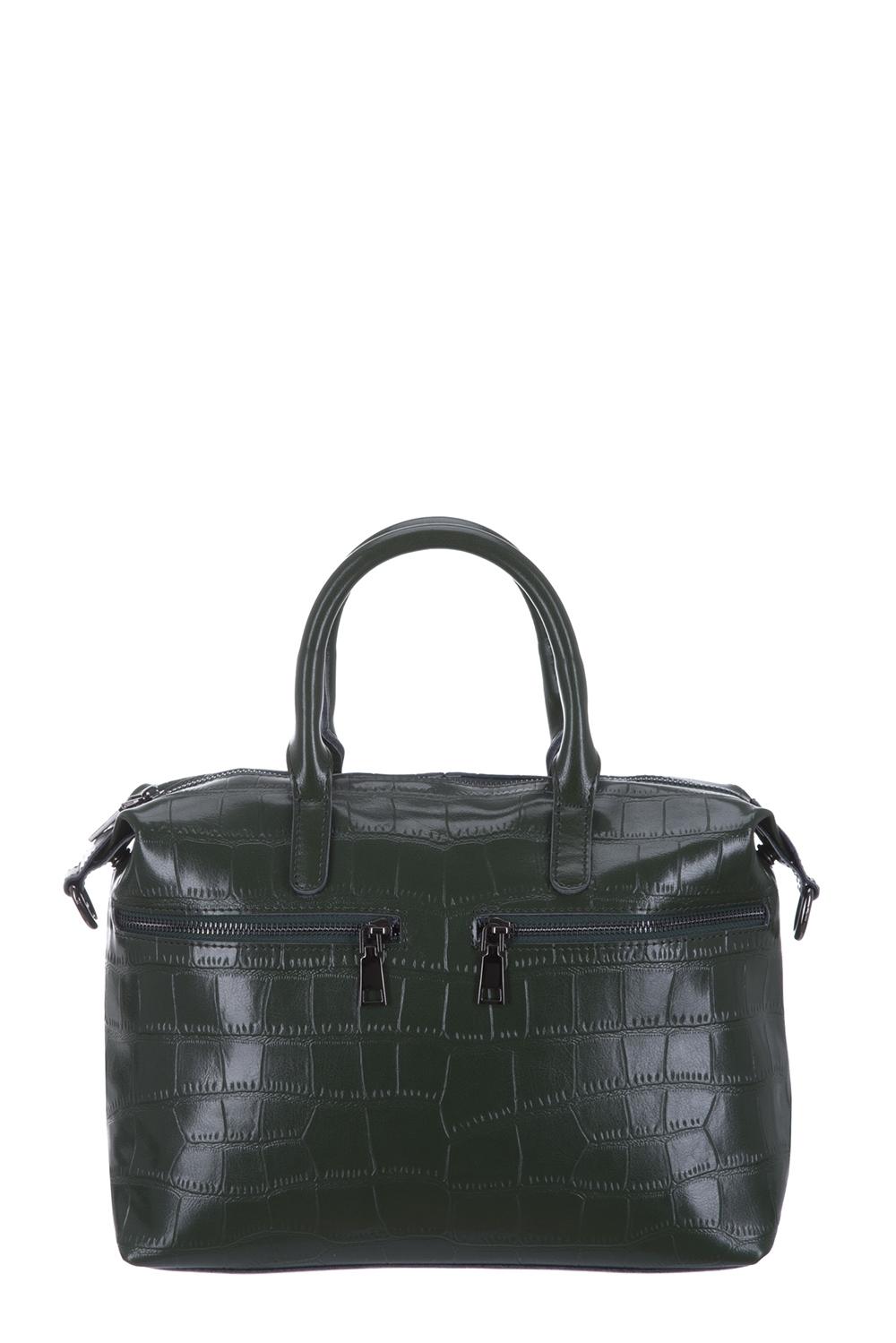 СумкаКлассические<br>Удобная и вместительная женская сумка. Модель выполнена из фактурного материала. Отличный выбор для завершения образа.  Цвет: зеленый  Размеры: 44*22*12 см.<br><br>По материалу: Искусственная кожа<br>По размеру: Средние<br>По рисунку: Однотонные,Фактурный рисунок<br>По способу ношения: В руках<br>По степени жесткости: Полужесткие<br>По элементам: Карман на молнии<br>Ручки: Короткие<br>По сезону: Всесезон<br>По форме: Прямоугольные<br>Размер : UNI<br>Материал: Искусственная кожа<br>Количество в наличии: 1