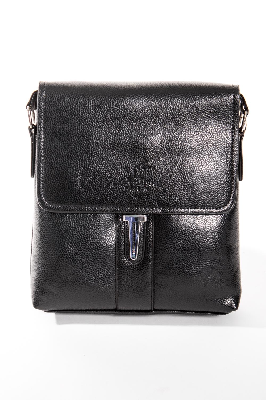 Сумка мужскаяДеловые<br>Удобная и вместительная мужская сумка  Размеры: 22*24*5 см  Цвет: черный<br><br>Размер : UNI<br>Материал: Искусственная кожа<br>Количество в наличии: 1