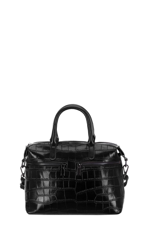 СумкаКлассические<br>Удобная и вместительная женская сумка. Модель выполнена из фактурного материала. Отличный выбор для завершения образа.  Цвет: черный  Размеры: 44*22*12 см.<br><br>По материалу: Искусственная кожа<br>По размеру: Средние<br>По рисунку: Однотонные,Фактурный рисунок<br>По способу ношения: В руках<br>По степени жесткости: Полужесткие<br>По элементам: Карман на молнии<br>Ручки: Короткие<br>По сезону: Всесезон<br>По форме: Прямоугольные<br>Размер : UNI<br>Материал: Искусственная кожа<br>Количество в наличии: 1