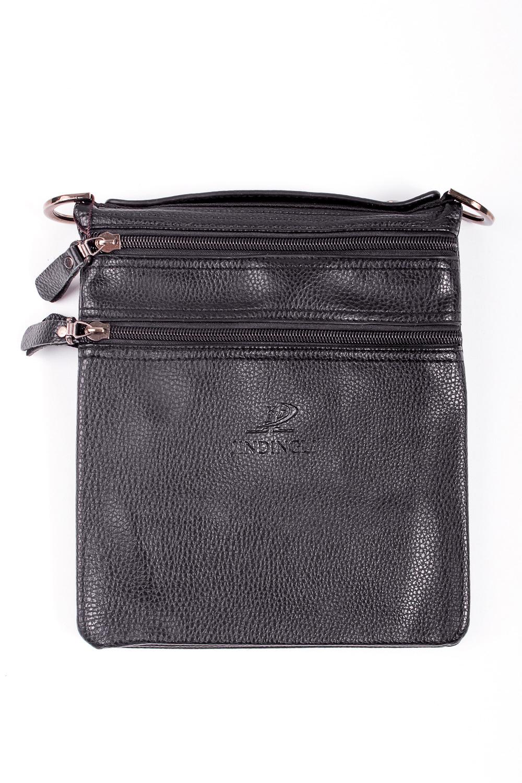Сумка мужскаяДеловые<br>Удобная и вместительная мужская сумка  Размеры: 19*21*2 см  Цвет: черный<br><br>Размер : UNI<br>Материал: Искусственная кожа<br>Количество в наличии: 1