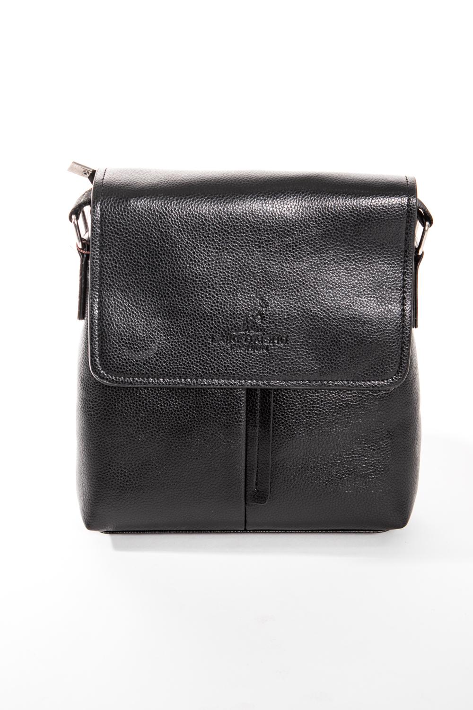 Сумка мужскаяДеловые<br>Удобная и вместительная мужская сумка  Размеры: 22*24*5 см  Цвет: черный<br><br>Размер : UNI<br>Материал: Искусственная кожа<br>Количество в наличии: 2