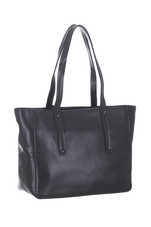 СумкаКлассические<br>Удобная и вместительная женская сумка. Модель выполнена из гладкой кожи. Отличный выбор для завершения образа.  Цвет: серый  Размеры: 35*26*12 см<br><br>По материалу: Искусственная кожа<br>По размеру: Средние<br>По рисунку: Однотонные<br>По способу ношения: В руках<br>По степени жесткости: Полужесткие<br>По элементам: Карман на молнии<br>Ручки: Короткие<br>По сезону: Всесезон<br>По форме: Прямоугольные<br>Размер : UNI<br>Материал: Искусственная кожа<br>Количество в наличии: 1