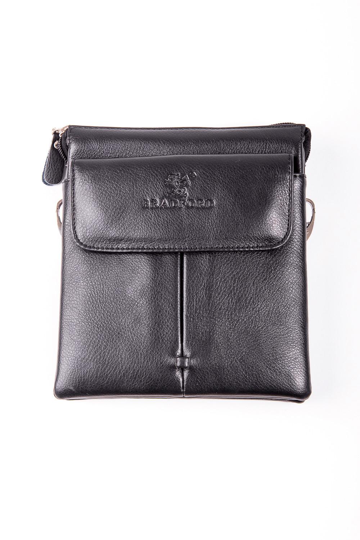 Сумка мужскаяДеловые<br>Удобная и вместительная мужская сумка  Размеры: 16*19*4 см  Цвет: черный<br><br>Размер : UNI<br>Материал: Искусственная кожа<br>Количество в наличии: 1