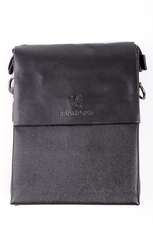 Сумка мужскаяДеловые<br>Удобная и вместительная мужская сумка  Размеры: 20*26*3 см  Цвет: черный<br><br>Размер : UNI<br>Материал: Искусственная кожа<br>Количество в наличии: 2