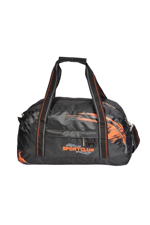 СумкаСпортивные<br>Спортивная мужская сумка. Модель с застежкой на молнию и двумя ручками.  В изделии использованы цвета: серый, оранжевый  Габариты, см: 26х49х17<br><br>Размер : UNI<br>Материал: Полиэстер<br>Количество в наличии: 1