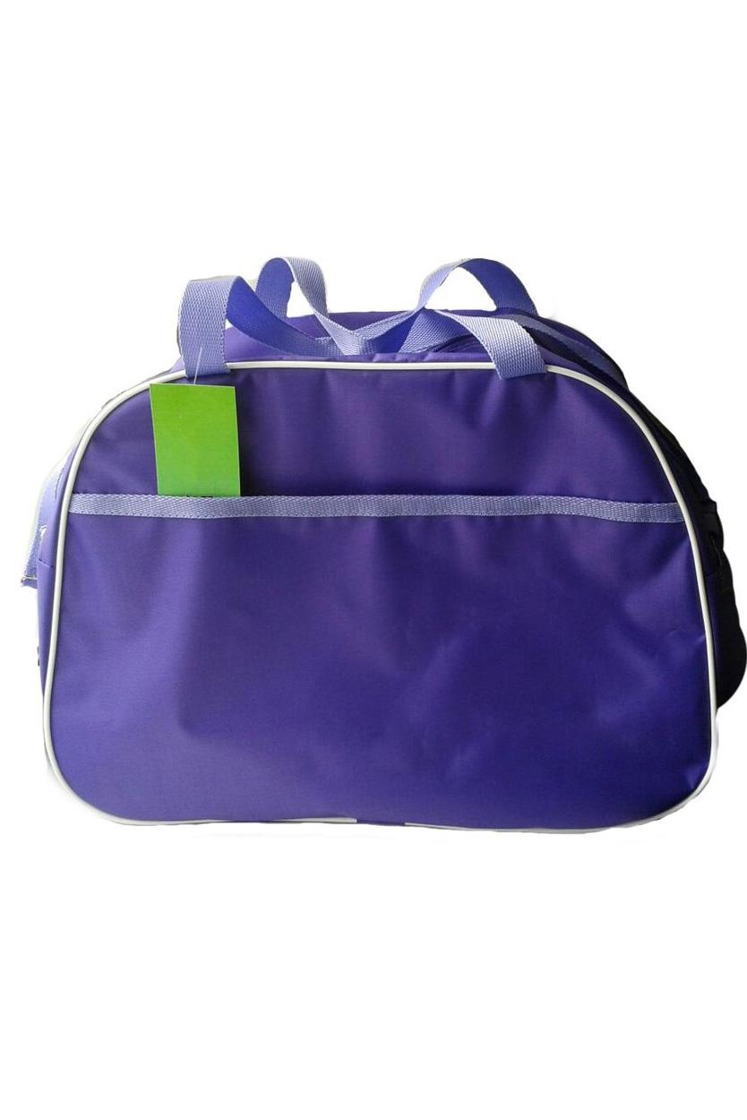 Спортивная сумкаСпортивные<br>Удобная и вместительная спортивная сумка.  Размер: 43*31*22 см.  Цвет: фиолетовый<br><br>По материалу: Тканевые<br>По рисунку: Однотонные<br>По степени жесткости: Мягкие<br>По типу застежки: С застежкой молнией<br>По сезону: Всесезон<br>Ручки: Длинные,Короткие<br>По стилю: Повседневный стиль<br>По форме: Трапециевидные<br>Размер : UNI<br>Материал: Полиэстер<br>Количество в наличии: 2