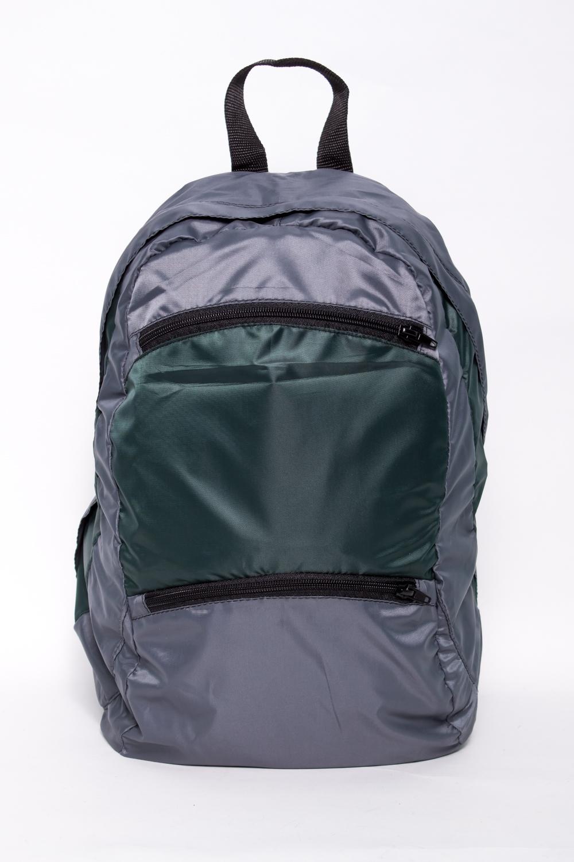 РюкзакРюкзаки<br>Лёгкий компактный городской рюкзак. Благодаря материалу Airmesh, которым обтянута спинка и плечевые лямки, обеспечивается удобство носки рюкзака.  Мягкие регулируемые лямки обтянутые сеточкой. Вентилируемая спинка. Грудная стяжка. Два кармана с застёжкой молния на передней панели. Одно основное отделение на молнии, скрытой ветрозащитной планкой и двумя внутренними карманами.  В изделии использованы цвета: серый, зеленый и др.  Размеры: 42*24*15 см.  Объем 20л.<br><br>Размер : UNI<br>Материал: Полиэстер<br>Количество в наличии: 1