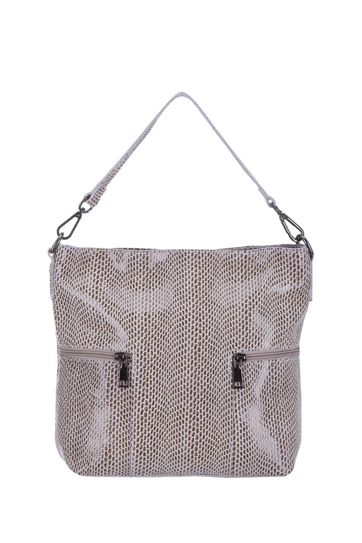 СумкаСумки-шоппинг<br>Удобная и вместительная женская сумка. Модель выполнена из материала под рептилию. Отличный выбор для завершения образа.  Цвет: бежевый  Размеры: 35*30*12 см.<br><br>Отделения: без отделений<br>По материалу: Искусственная кожа<br>По образу: Город<br>По размеру: Средние<br>По рисунку: Однотонные,Рептилия,Фактурные<br>По силуэту стенок: Прямоугольные<br>По степени жесткости: Мягкие<br>По стилю: Повседневные<br>Ручки: Длинные<br>По сезону: Всесезон<br>Размер : UNI<br>Материал: Искусственная кожа<br>Количество в наличии: 1